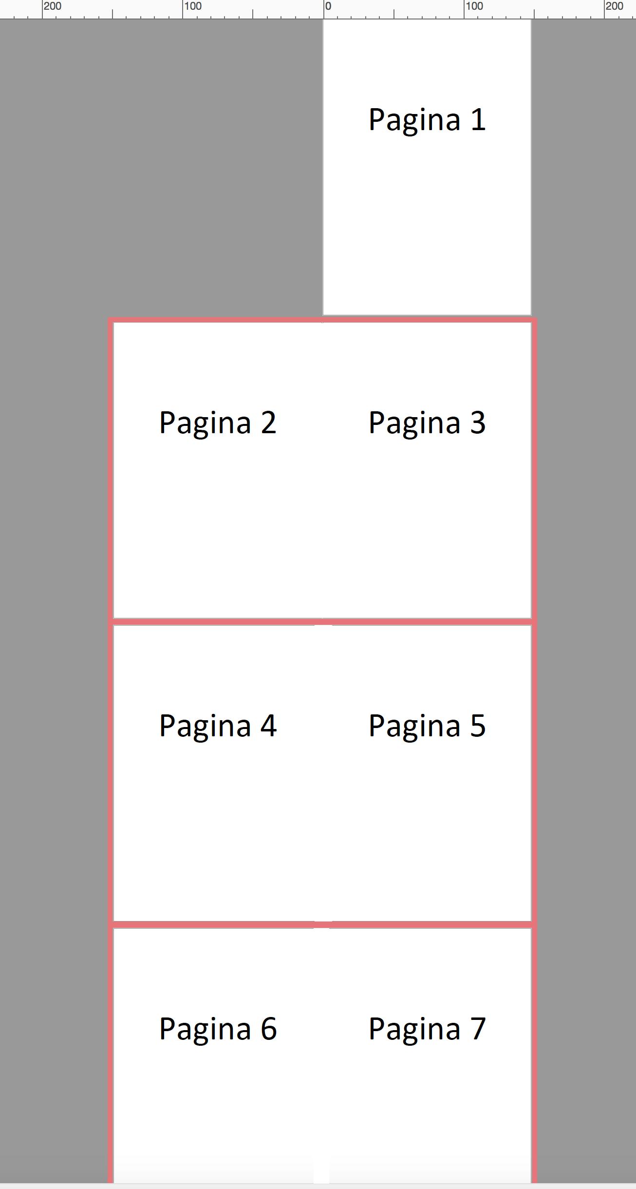 pagina als spread aangeleverd in PDF