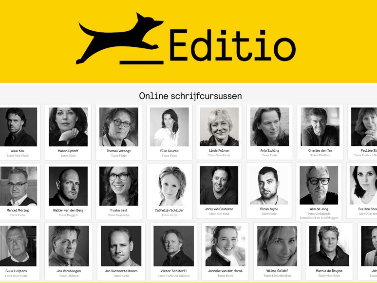Boek schrijven met online schrijfcursussen van Editio