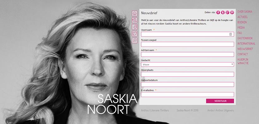 Inschrijven voor de nieuwsbrief van Saskia Noort