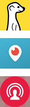 Meerkat, Periscope en Facebook Live