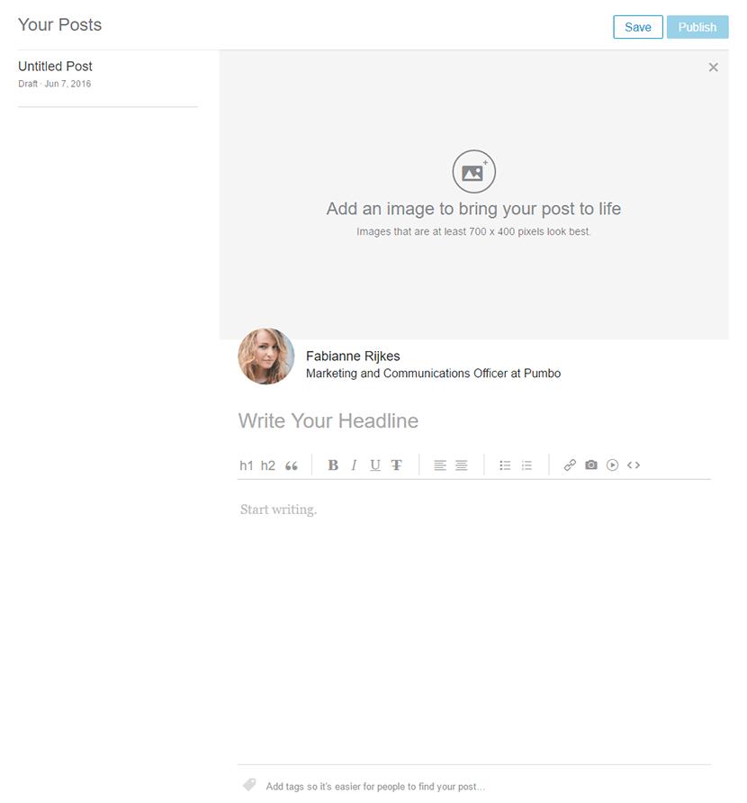 De online editor van LinkedIn
