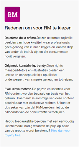 Rights managed-beeld