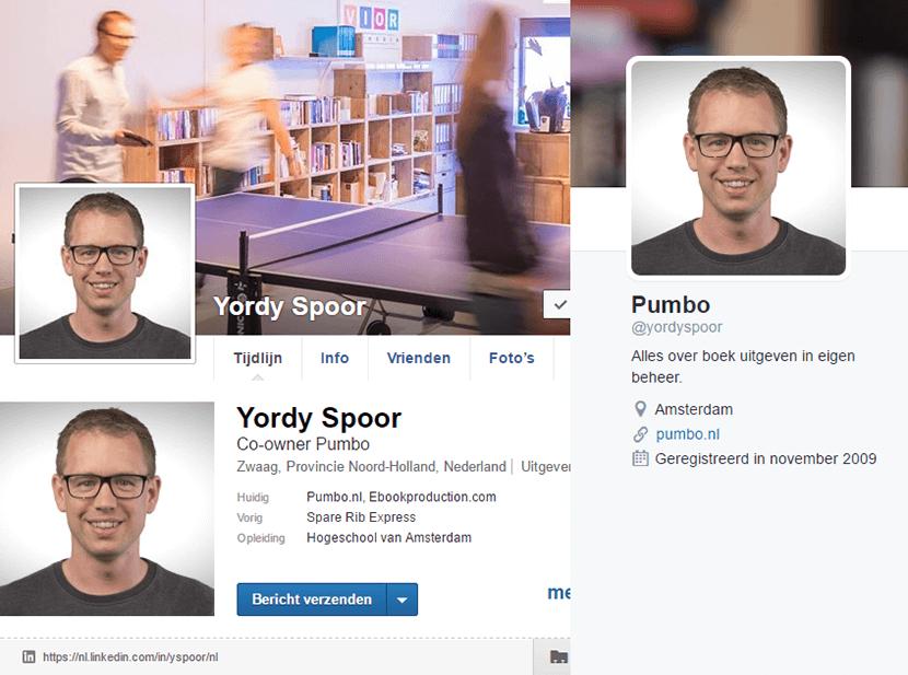 De socialmediakanalen van Yordy Spoor
