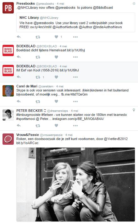 Verschillende soorten tweets