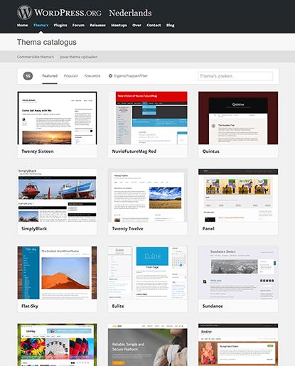 Een WordPress-thema zoeken