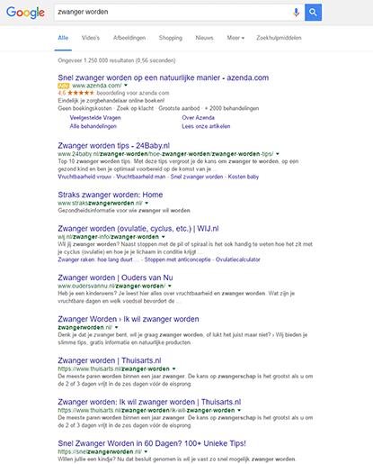 Zoeken naar mediakanalen in Google