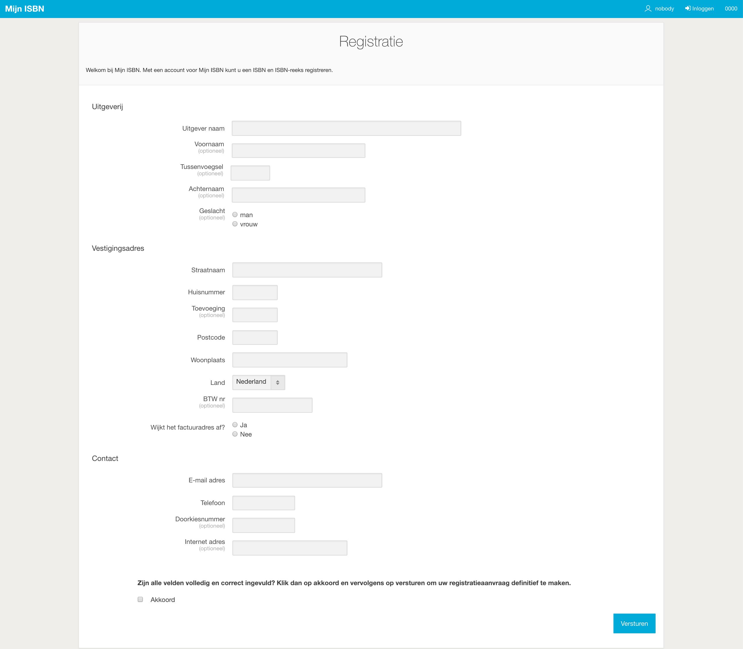 isbn registratie