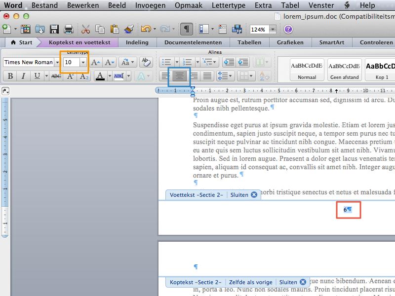 Werken met secties in Office voor Mac 2011